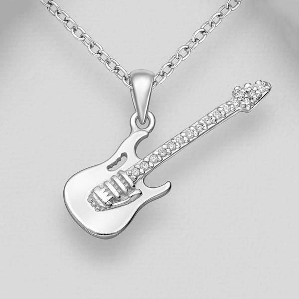 Bilde av El-gitar - Sølvanheng