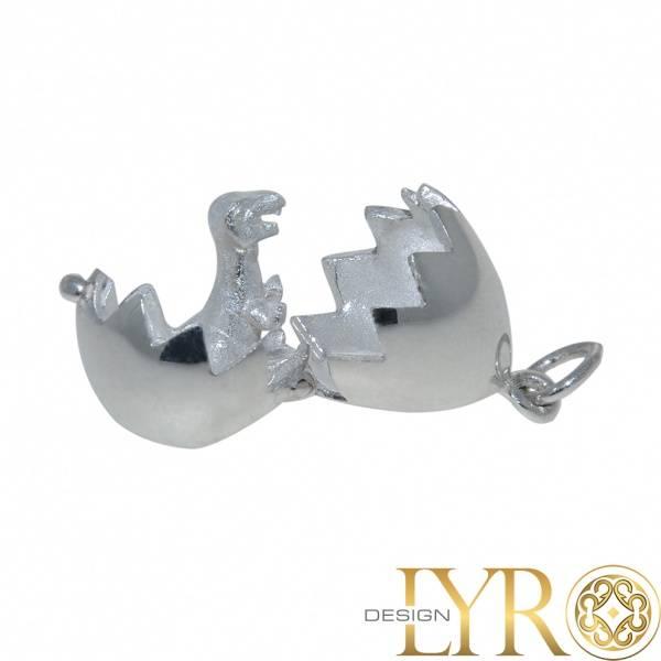 Bilde av Dinosauregg Medaljong - Sølv