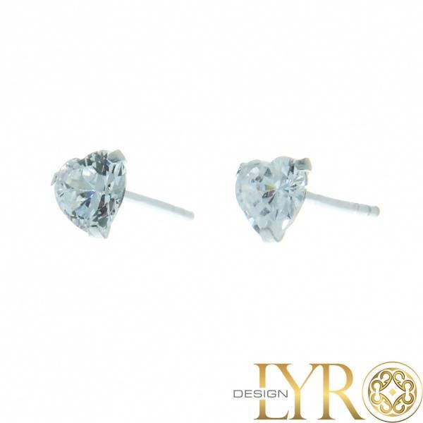 Bilde av Hjerteformede Krystaller - Sølv CZ